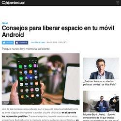 Cómo liberar espacio en dispositivos Android