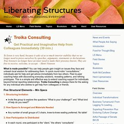 Liberating Structures - 8. Troika Consulting