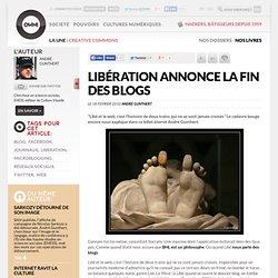 Libération annonce la fin des blogs