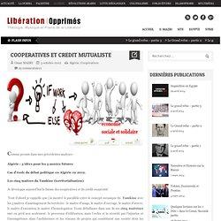 Islam : Libération des opprimés COOPERATIVES ET CREDIT MUTUALISTE