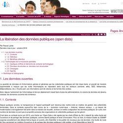 La libération des données publiques (open data) (vitrine.Libération des données publiques (open data)) - CNFPT