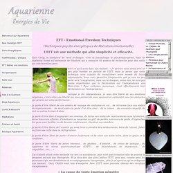 EFT, Technique de libération émotionnelle