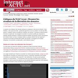 Critiques du Web² (2/4) : Mesurer les résultats de la libérat