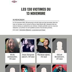 Libération.fr –Les 129 victimes du 13 novembre