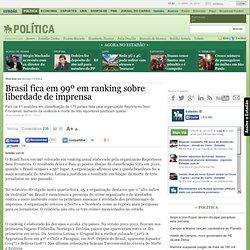 Brasil fica em 99º em ranking sobre liberdade de imprensa