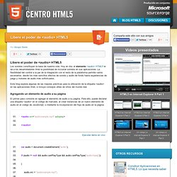 Libere el poder de <audio> HTML5 | the HTML5 Center