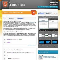 Libere el poder de <audio> HTML5