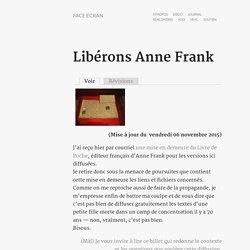 Libérons Anne Frank