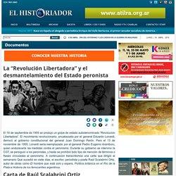"""La """"Revolución Libertadora"""" y el desmantelamiento del Estado peronista"""