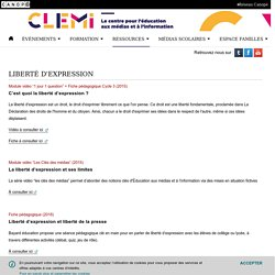 Liberté d'expression- CLEMI