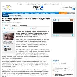La liberté de la presse au coeur de la visite de Rudy Demotte en Tunisie