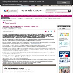 """""""Mur de la liberté d'expression"""" et ateliers France Info"""