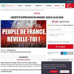 Liberté d'expression en danger : NON à la Loi Avia