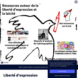 Liberté d'expression by CDI Dr Lacroix on Genially