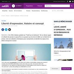 Ensemble de ressources de FranceCulture : Liberté d'expression, histoire et concept. Cycle 4