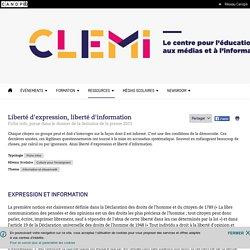 Liberté d'expression, liberté d'information- CLEMI