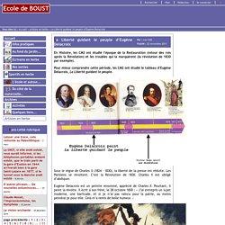 Ecole de BOUST - La Liberté guidant le peuple d'Eugène Delacroix