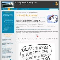 La liberté de la presse - Collège Henri Bergson