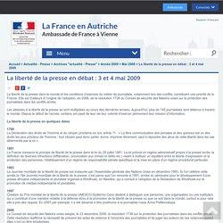 La liberté de la presse en débat : 3 et 4 mai 2009 - La France en Autriche