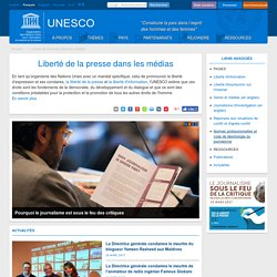 13. UNESCO - Défense de la liberté de la presse