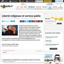 Liberté religieuse et service public