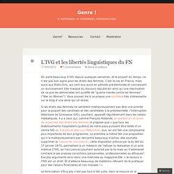 L'IVG et les libertés linguistiques du FN