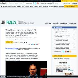 Tim Berners-Lee : «L'intérêt pour les libertés numériques est sans précédent »