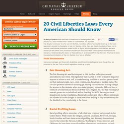20 Civil Liberties Laws Every American Should Know