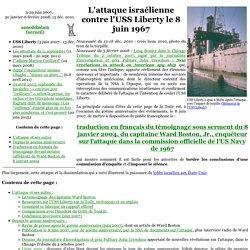 08/06/1967 attaque de l'USS Liberty, navire espion US
