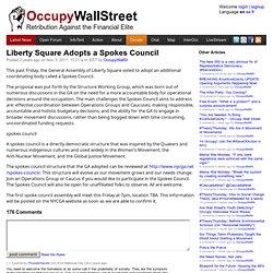 Liberty Square Adopts a Spokes Council