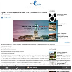 Open Call: Liberty Museum New York: Freedom to the People