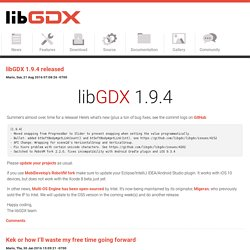 Actualité LibGDX