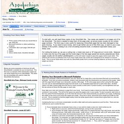 How-To - Story Walks - LibGuides at Appalachian Regional Library