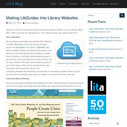 Making LibGuides Into Library Websites – LITA Blog
