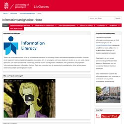 Home - Informatievaardigheden - LibGuides at University of Groningen