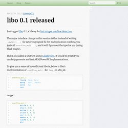 libo 0.1 released - Xi Wang