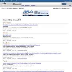 J Med Libr Assoc Volume 98(4);  October 2010