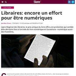 Libraires: encore un effort pour être numériques