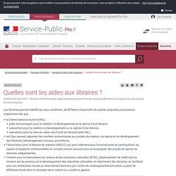 Quelles sont les aides aux libraires ? - professionnels