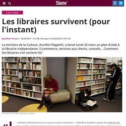 Les libraires survivent (pour l'instant)