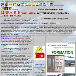 librairie,energie solaire,modules,panneaux,pompes,froid,climatisation,formation
