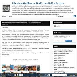 La librairie Guillaume Budé s'ouvre à la bande dessinée !