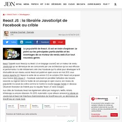 React : la librairie JavaScript de Facebook au crible