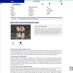 Librairie Mollat Bordeaux - Mort de rire, quand polar rime avec hilare...