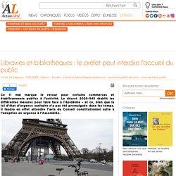 Librairies et bibliothèques : le préfet peut interdire l'accueil du public