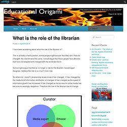 What is the role of the librarian
