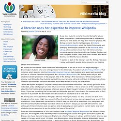A librarian uses her expertise to improve Wikipedia