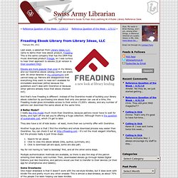 Freading Ebook Library from Library Ideas, LLC