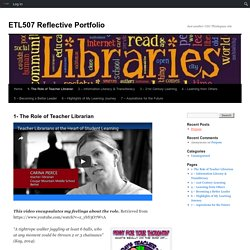1- The Role of Teacher Librarian
