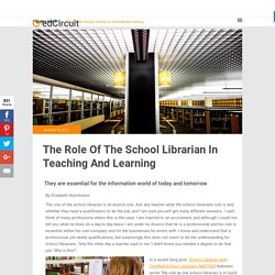 The Role Of The School Librarian In Teaching And Learning
